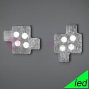 Braga Illuminazione Puzzle Plafoniera Led Moderna Design Ultrasottile L. 60x45
