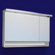Dulap baie cu oglinda si iluminare Sanotechnik Roma 110, alb | dreapta
