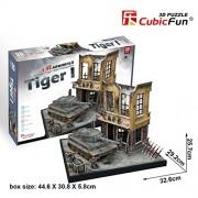 CubicFun JS4201h ArmiBuild Military Scenic Model Army Tank German Tiger I Mid Production 3D Puzzle, 258 Pieces