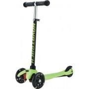 Самокат-кикборд Novatrack Disco-kids, колеса 120мм, черно-зеленый