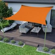 Jarolift Voile d'ombrage carrée, imperméable, orange, 300x300 cm