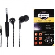 BrainBell Combo Of UBON UH-292 BOMB UNIVERSAL BLAST YOUR MUSIC And LG STYLUS 2 Tempered Scratch Guard Screen Protector