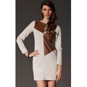 Sukienka M148 (beżowy)