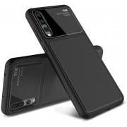 Lenuo Lejazz Serie Para Huawei P20 Pro Shockproof TPU + Vaso Nuevo Estuche Protector (Black)