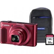 Canon Digital Camera PowerShot SX620 HS 21.1 Megapixel Red + 1 x 32GB SD Card, 1 x Case