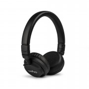 Veho ZB5 On Ear Leather Finish Bluetooth Wireless Foldable Headphones (Includes Controls and Mic) - Black