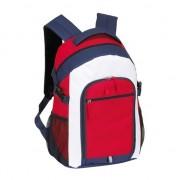 Merkloos Rugzak/rugtas rood/wit/blauw 44 cm