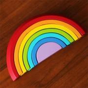 ER 7 COLORES/Conjunto De Bloques De Construcción De Madera Rainbow Bebé Juguetes Educativos De Educación Temprana