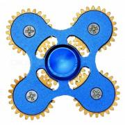 Dayspirit 4-Engranaje en forma de alivio de estres giro rotador dedo - Azul