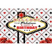 Zhyxia Zhy Gambling Backdrop for Father s Birthday Party Playing Cards Dice Photography Background 7X5FT Party Decor Supplies Photo Shooting Props 111