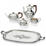 Luxury Coffee Tea Silver Plated Gift Set by Chinelli made in Italy