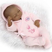 Blue Pink Silicone Full Reborn Baby Doll Lifelike for Girls Sleeping Girl Boy Doll for Newborn