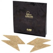 Tapa Mamilos Flash Glitter Bolt Bijoux Indiscrets Dourados