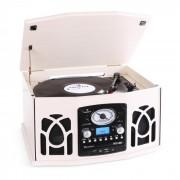 Auna NR-620 Cadena estéreo tocadiscos grabación MP3 beige