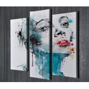 Tablou CANVAS 3 piese Make-up