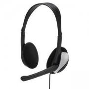 Слушалки с микрофон Essential HS 200 средни, бутон увел/намалявaне на звука HAMA-139900/53998