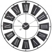 Zegar ścienny metalowy duży RETRO 70 cm