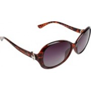 Amour Oval, Cat-eye, Over-sized Sunglasses(Grey)