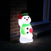 Kültéri hóember figura 68 cm hideg fehér