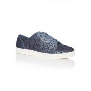Calvin Klein Imilia sneaker van fluweel met logoprint