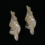 Semi Earring Jewelry Gold Plated Leaf