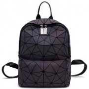 Cubern Fashion Women Backpack Mochila Geometric Luminous Backpacks Bagpack Girls Noctilucent Travel Shoulder Bags for School Back Pack 30 L Backpack(Black)
