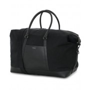 Sandqvist Frans Twill Leather Weekendbag Black/Black