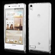 Силиконов гръб за Huawei Ascend P6 - прозрачен