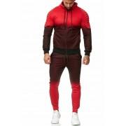 OneRedox Jogging Suit Sport Set Tracksuit Pants & Hoodie Sweater Red 1130C 52005-2