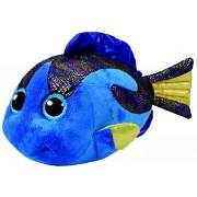 TY Peluche Fish Bleu with Glitter eyes Aqua 42cm