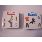 "Educational Books For Kids ~ Set of 2 ""1st Book of Words"" (People, Clothes)"