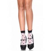 Vegaoo Gepunktete Söckchen für Damen Kostüm-Accessoire weiss-schwarz
