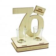 Pálinkás pohár szett 70. Születésnapi ajándék 2db 2cl - Tréfás Pálinkás szett