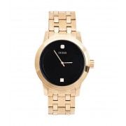 GUESS Black and Gold-Tone Diamond Dress Watch no color