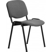 Tárgyalószék, szövetborítás, fekete fémváz, Felicia, fekete-szürke (BBSZV07)