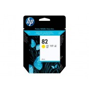 HP Cartucho de Tinta Original HP 82 de 69 Ml C4913A Amarillo para DesignJet 10, 100, 120, 20, 50, 500, 510, 800, 815, 820, Designjet Copier cc800