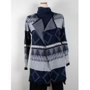 missbaron Långcardigan, blå färgställning (Stl: S, M, L, )