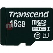 Card memorie Transcend, Micro SDHC, 16GB, Clasa 10, UHS-I