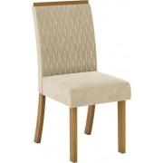 Conjunto 02 Cadeiras Henn Vega Nature/Linho