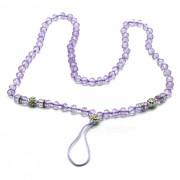 kelima cadena de colgante con cuentas redonda hecha a mano creativa para telefono movil - purpura
