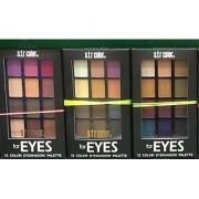 SFR 12 Multi-Shades Shimmer Eye Shadow Palette Set Of 03 18 gm