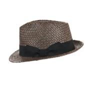 HUTTER cappello trilby Newton in paglia naturale con grosgrain classico da donna e uomo firmato Hutter