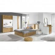Hálószoba garnitúra, tölgy wotan-fehér, VODENA