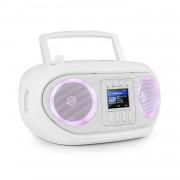 Auna Roadie Smart, boombox, интернет радио, DAB / DAB +, FM, CD плейър, LED, WiFi, bluetooth (KBB-257-RoadieIR WH)