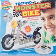 Small World Toys Creative - Techno Monster Bike Metal Construction Kit