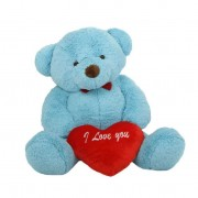 3 feet big blue teddy bear with red I Love You Heart