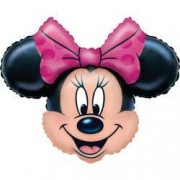 Balon gigant Red Minnie Mouse 62x62 cm din folie aer si heliu