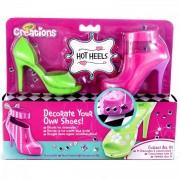 Crayola Creations - Cipőtervező - 2 db-os - zöld-rózsaszín
