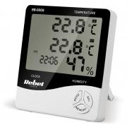 Statie meteo Rebel, masurare temperatura/umiditate, functie alarma, calendar, ceas