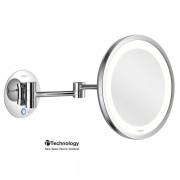 Aliseo LED Saturn make-up spiegel 22cm messing chroom 020744